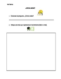 ¿Cómo estás? Spanish Worksheet For the First Day (Spanish I or FLES/FLEX)