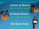 """¿Cómo estás?"""" and """"¿Cómo se llama?"""" PowerPoint for Spanish Class"""