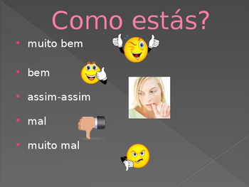 Como estás in Portuguese power point activity