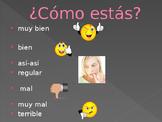 Cómo estás in Spanish PowerPoint Activity