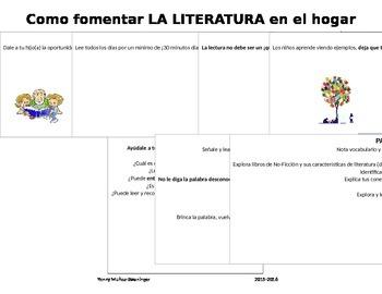 Como fomentar la Literatura en el Hogar / Fostering Reading at Home
