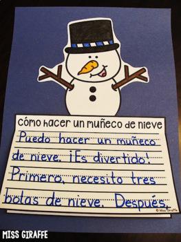 Cómo hacer un muñeco de nieve NO PREP Writing Craft