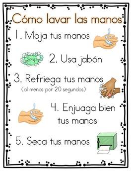 Cómo lavar las manos