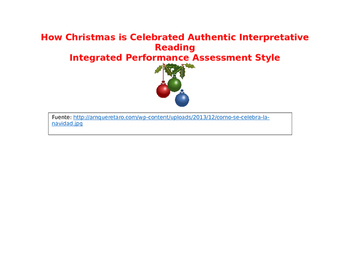 Como se celebra Navidad interpretative reading
