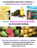 Cómo se come una guayaba, Esmeralda Santiago   La identidad boricua y la comida