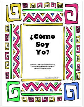 ¿Cómo Soy Yo? Project and Presentation Assessment