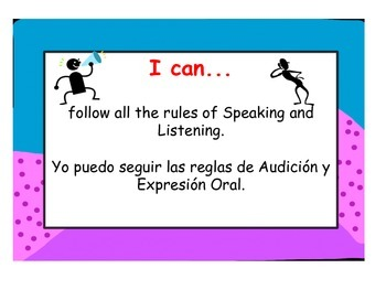 Common Core Speaking and Listening Standards, 3rd Grade Bilingual