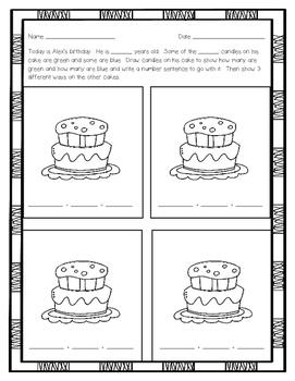Compose & Decompose Story Problems Printables