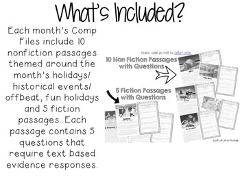 Comp Files BUNDLED: Practice Passages for Showing Evidence