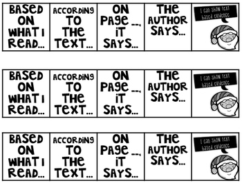 Comp Files: Practice Passages for Showing Text Based Evidence (December)