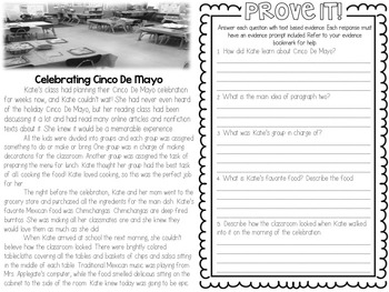 Comp Files: Practice Passages for Showing Text Based Evidence (May)