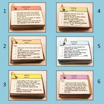 Reading Comprehension Cards Based on Blooms Revised Taxonomy: Comp. Quest 2