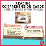 Reading Comprehension Cards Based on Blooms Revised Taxonomy