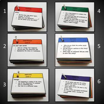 Reading Comprehension Cards Based on Bloom's Taxonomy: Comp. Quest 1