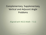 Comp., Supp., Vert., and Adjacent Angles Full Lesson Bundle - 7.G.5