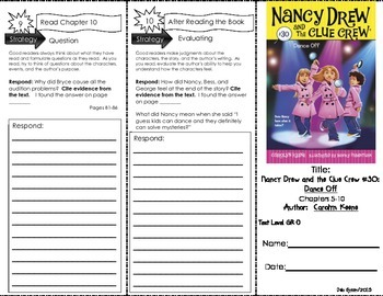 "Comp. Trifold for ""Nancy Drew and the Clue Crew: Dance Off"" by Carolyn Keene"