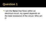 Companion Circuits PowerPoint Quiz