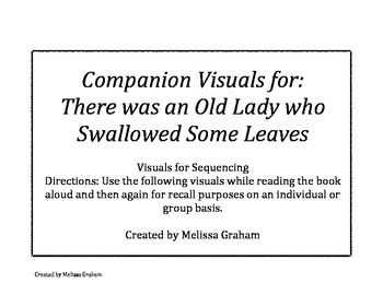 Companion Sequencing Cards for There was An Old Lady Who Swallowed Some Leaves