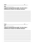 Companion Sheet; Grade 4 Module 1A Unit 3 Lesson 5 Communi