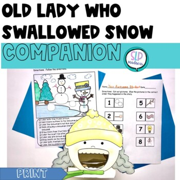 Companion for Old Lady Who Swallowed Some Snow Winter Activity Pack