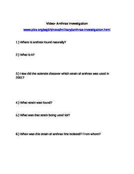 Companion to Anthrax Investigation - plus answer key