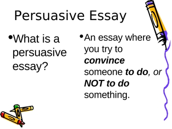 Companion to Intro to Persuasive Writing Unit