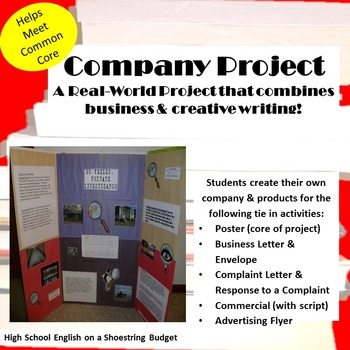Create a Company / Build a Business Project: Real World + Creative Writing -Word