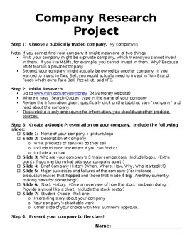 Company Research Project