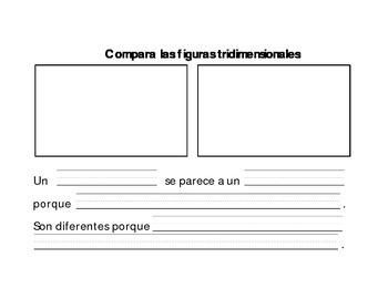 Compara las figuras/Comparing shapes in Spanish