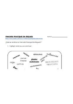 Comparacion Cultural- Mercados AUTHENTIC RESOURCE ACTIVITY