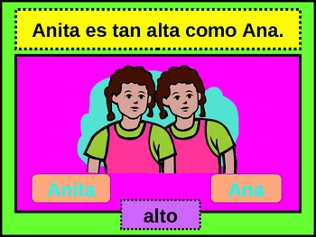 Comparativo (Comparative in Spanish)  power point