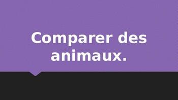 Comparaison des animaux