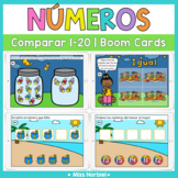 Comparar cantidades a 20 Boom Cards | Comparing numbers in