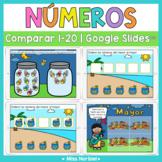 Comparar cantidades a 20 para Google Classroom™ | Comparin