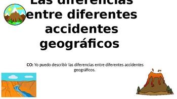 Comparar y Contrastar Accidentes Geográficos- Compare and Contrast Landforms