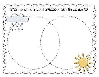 Comparar y Contrastar Dia lluvioso - soleado