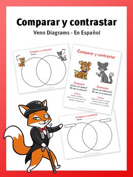 Comparar y contrastar venn diagram en espaol by le fancy fox comparar y contrastar venn diagram en espaol ccuart Gallery