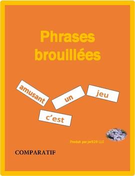 Comparatif (Comparison in French) Phrases brouillées