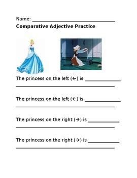 Comparative Adjective Practice