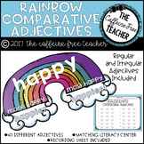 Comparative Adjective Rainbows: Sort -er, -ier, -est, -ies