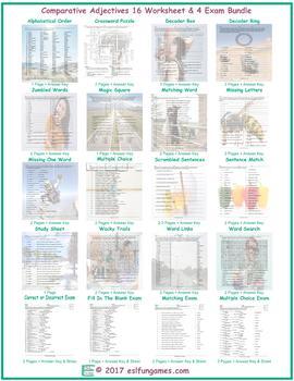 Comparative Adjectives 16 Worksheet- 4 Exam Bun