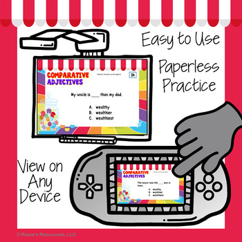 Comparative Adjectives Digital Task Cards