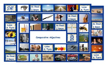 Comparative Adjectives Legal Size Photo Board Game