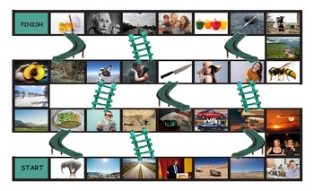 Comparative Adjectives Legal Size Photo Chutes and Ladders Game