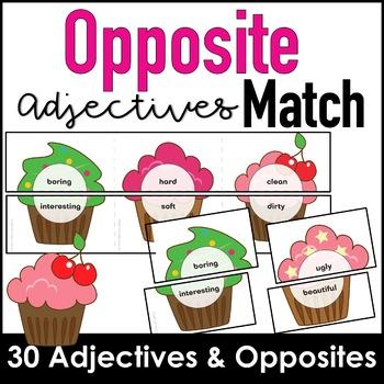 Opposite Adjectives- Antonym Matching Activity