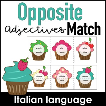 Adjectives & Opposites Matching Activity - Italian Version