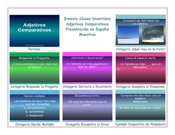 Comparative Adjectives Spanish PowerPoint Presentation