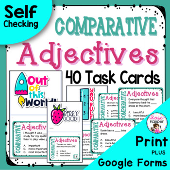 Comparative Adjectives Task Cards