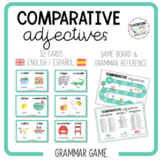 COMPARATIVE ADJECTIVES - speaking cards [English & Spanish]