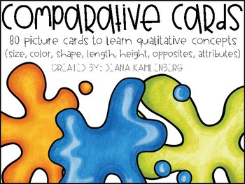 Comparative Cards {80 Picture Cards for Qualitative Concepts}